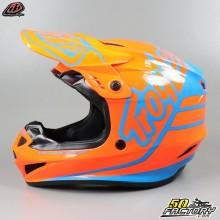 Helmet cross Troy Lee Designs GP Silhouette orange and cyan size L