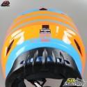 Casque cross Troy Lee Designs GP Silhouette orange et cyan taille M
