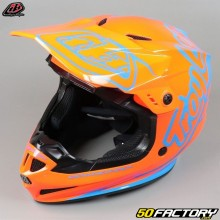 Casco cross Troy Lee Designs GP Silhouette orange et cyan taille XS