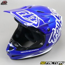 Casco cross Troy Lee Designs GP Silhouette azul marino y blanco talla XS