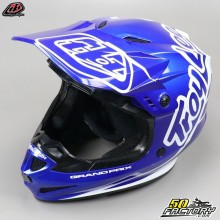 Casco cross Troy Lee Designs GP Silhouette azul marino y blanco talla L