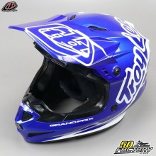 Casco cross Troy Lee Designs GP Silhouette azul marino y blanco talla M