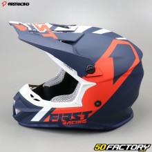 Casque cross First Racing K2 bleu et rouge