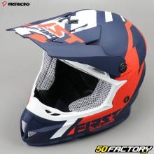 Casco cross Nombre Racing K2 azul y rojo talla M