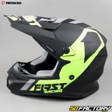 Helmet cross First Racing K2 black and neon yellow size L