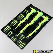 Planche de stickers Monster Energy Holeshot