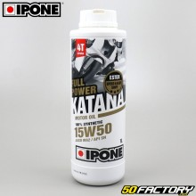 Engine Oil 4 stroke 15W50  Ipone  Fullpower Katana  100% synthesis 1L