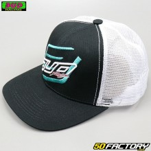 Cap Bud Racing Double Black white and blue