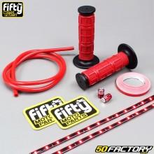 Paquete de accesorios de color Fifty rojo