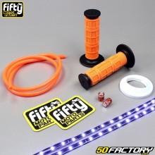 Paquete de accesorios de color Fifty naranja y blanco