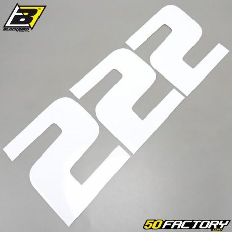 Numéros cross 2 blanco 20x25cm Blackbird (Juego 3)