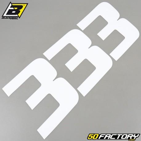Numéros cross 3 blanc 20x25cm Blackbird (jeu de 3)