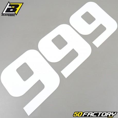 Numéros cross 9 blanc 20x25cm Blackbird (jeu de 3)