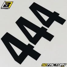 Numéros cross 4 noir 13x7cm Blackbird (jeu de 3)