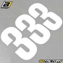 Numéros cross 3 blanc 13x7cm Blackbird (jeu de 3)