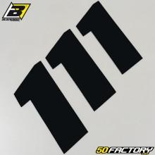 Numéros cross 1 noir 20x25cm Blackbird (jeu de 3)