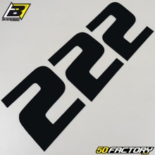 Numéros cross 2 noir 20x25cm Blackbird (jeu de 3)