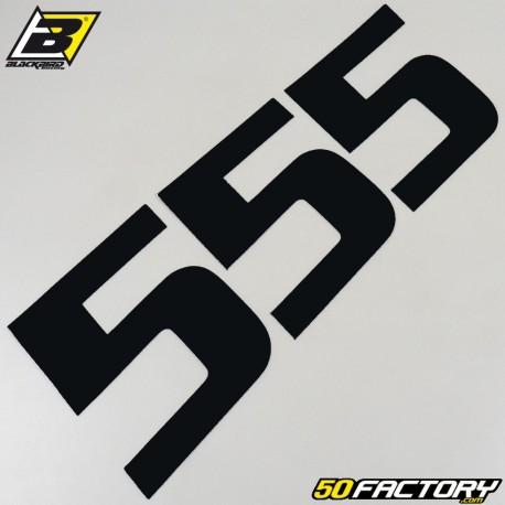 Numéros cross 5 noir 20x25cm Blackbird (jeu de 3)