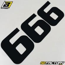 Numéros cross 6 noir 20x25cm Blackbird (jeu de 3)