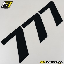 Numéros cross 7 noir 20x25cm Blackbird (jeu de 3)