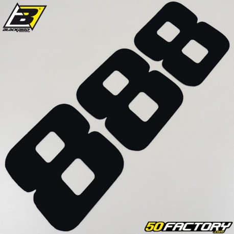 Numéros cross 8 noir 20x25cm Blackbird (jeu de 3)