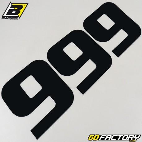 Numéros cross 9 noir 20x25cm Blackbird (jeu de 3)