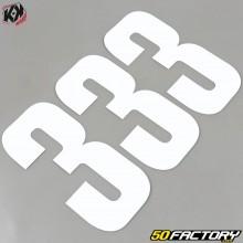 Números cross 3 blanco 16cm Kutvek (juego 3)