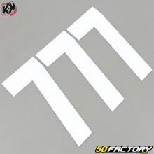 Números cross 7 blanco 16cm Kutvek (juego 3)
