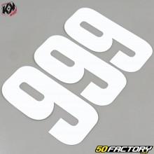 Números cross 9 blanco 16cm Kutvek (juego 3)