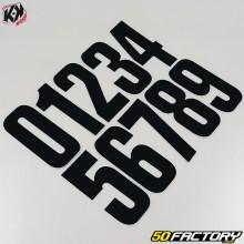 Numéros cross noir 16x7,5cm (jeu de 30)