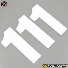 Números del kit 3 cross 1 blanco 13x7cm