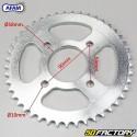 Verstärkter Kettensatz 15x45x148 (428) Daelim Daystar 125 (von 2007) Afam  or