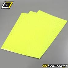 Vinyl-Klebefolien Blackbird fluoreszierend gelb perforiert 47x33cm (Satz von 3)