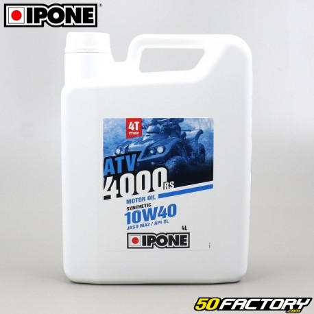 4 10W40 Engine Oil Ipone ATV 4000 RS semi synthesis 4L