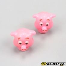 Tapones de válvula de cerdo rosa