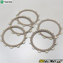 Trimmed clutch friction plates Yamaha Virago and Dragstar 125 Newfren