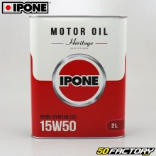 4 15W50 Engine Oil Ipone Heritage semi synthesis 2L