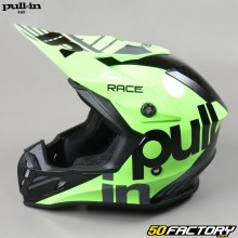 Casque cross Pull-in Race Charcoal