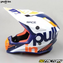 Casque cross Pull-in Race orange et bleu