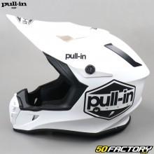 Helmet cross Solid white pull-in