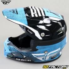 Helmet cross Fly Toxin Embargo Mips bleu et noir