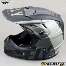 Helmet cross Fly Toxin Transfer Mips gris et noir mat