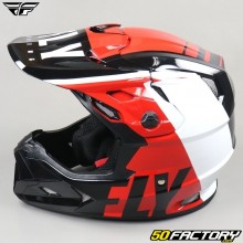 Helmet cross Fly Toxin Transfer Mips red, black and white