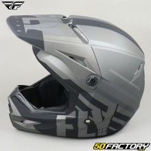 Casco cross Fly Cinética Thrive gris y negro mate
