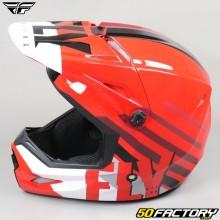 Helmet cross Fly Kinetic Thrive rouge, blanc et noir