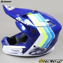 Casco cross Kenny Track Victoria blanca y azul