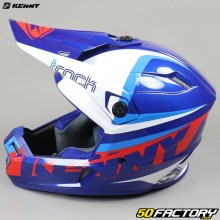 Casco cross Kenny Track Focus azul y blanco