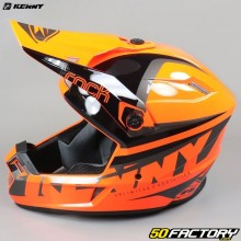 Casco cross Kenny Track Focus naranja fluo