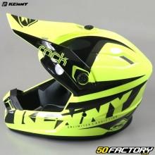Casco cross Kenny Track Focus amarillo fluorescente