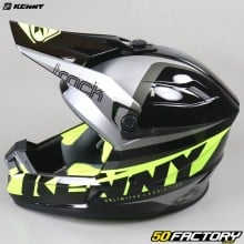 Helmet cross Kenny Track Focus gray and neon yellow